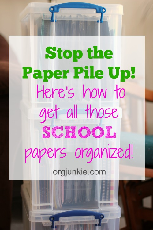 the easiest way to store and organize school papers