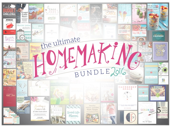 Ultimate Homemaking ebook Bundle sale available now