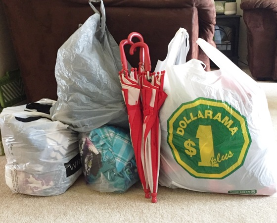 my organizing purge pile