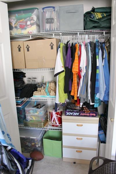 bedroom closet before