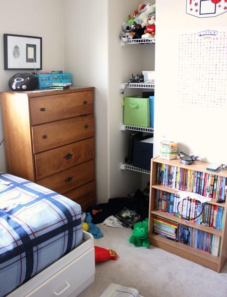 bedroom corner before