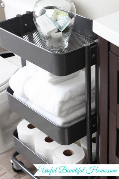 Bathroom Organizing With An Ikea Raskog Cart To Help