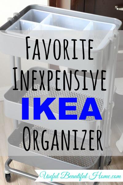 Favorite Inexpensive Ikea Organizer at I'm an Organizing Junkie blog