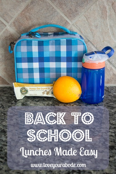 Back to school lunches made easy with these great tips at I'm an Organizing Junkie blog