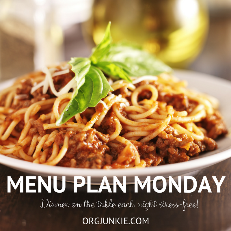 Menu Plan Monday for the week of April 23/2018 - weekly dinner inspiration to help you get dinner on the table each night with less stress and chaos