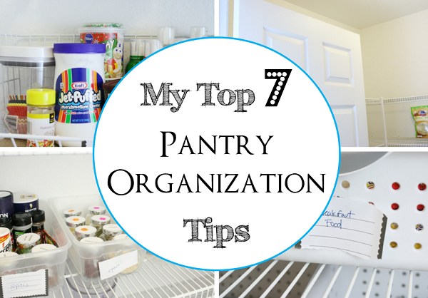 Top 7 Pantry Organization Tips at I'm an Organizing Junkie blog - time to get your kitchen organized!