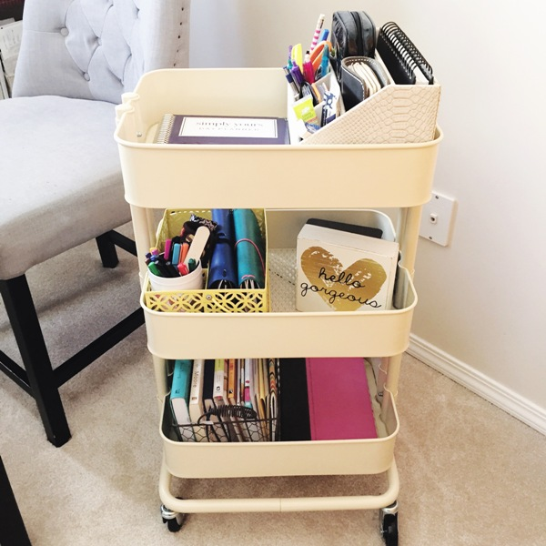 How This One Organizing Product Simplified My Life Forever More Office Design Rolling Cart