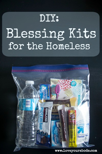 DIY: Blessing Kits for the Homeless organized and ready