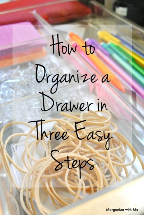 How to Have an Organized Drawer in 3 Easy Steps at I'm an Organizing Junkie blog