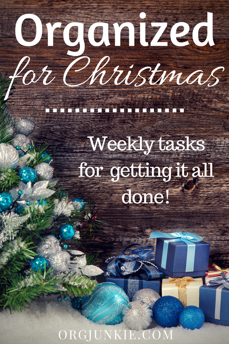 Organized for Christmas - weekly tasks to getting it all done. Task #10 Chrismtas Menu Planning at I'm an Organizing Junkie blog