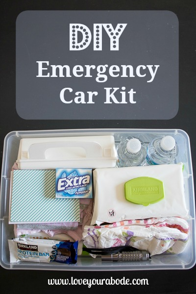 DIY Car Emergency Kit - organized essentials for your vehicle - I'm an Organizing Junkie blog