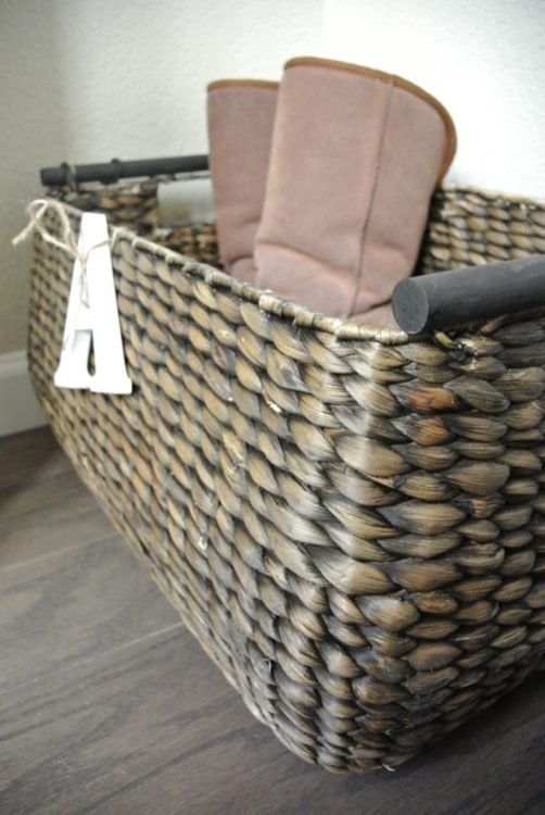 boot-basket-in-organized-entryway