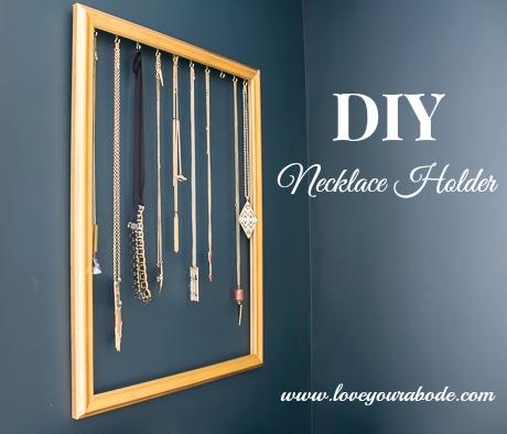 Easy DIY Necklace Holder Tutorial - find it at I'm an Organizing Junkie blog