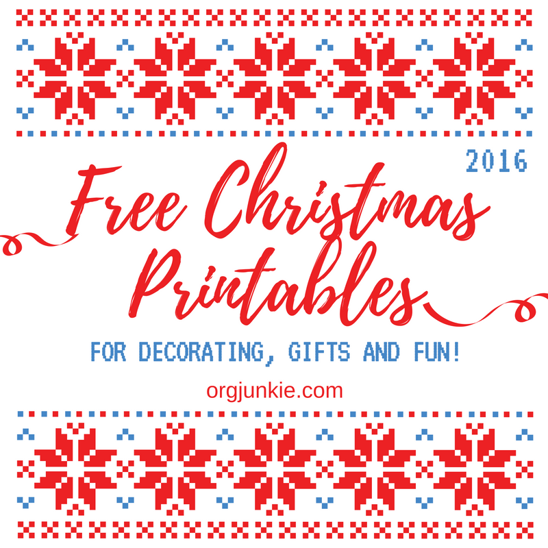 every year around this time i like to do a big free christmas printables roundup of christmas delights for your kids for your table and for your house - Free Printables For Christmas