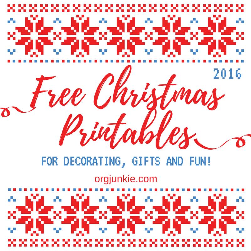 Fun & Free Christmas Printables Roundup for 2016