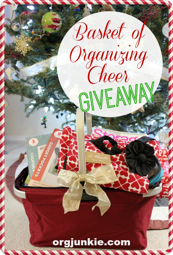Basket of Organizing Cheer Giveaway at I'm an Organizing Junkie blog! Merry Christmas :)