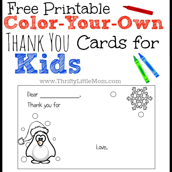 Zany image pertaining to printable thank you cards for kids