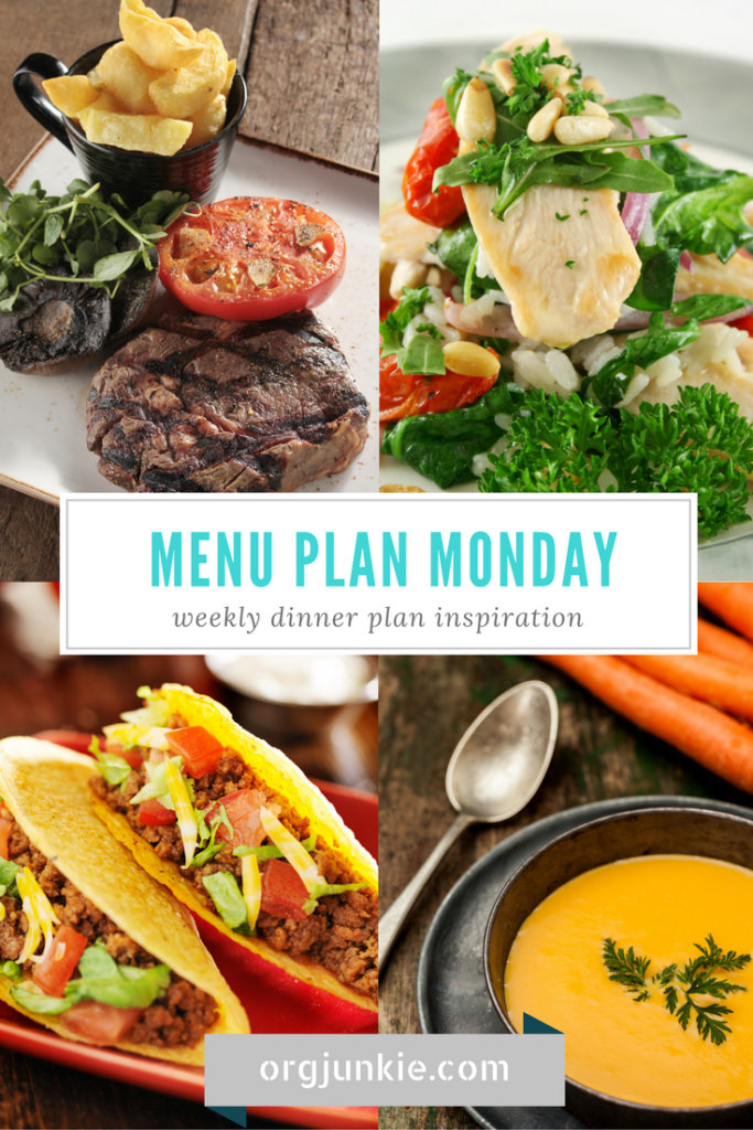 Menu Plan Monday for the week of Jan 2/17 - recipe links and menu planning inspiration at I'm an Organizing Junkie blog