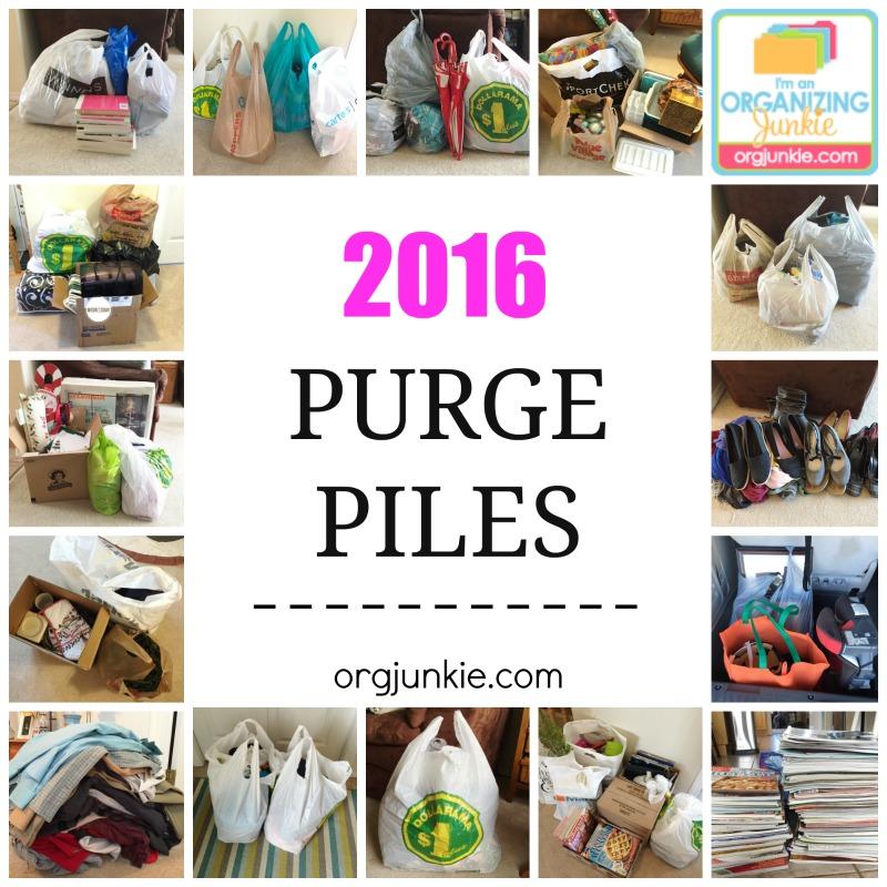 2016 Purge Piles at I'm an Organizing Junkie blog