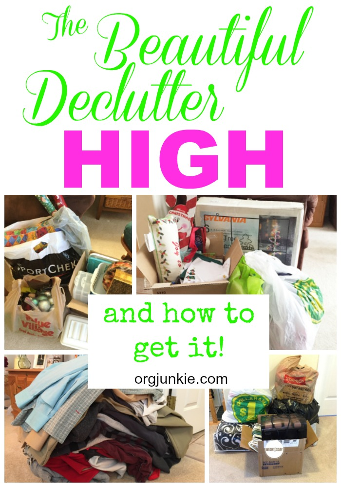 The beautiful declutter high that comes from purging!