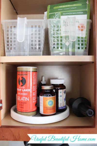 kitchen organization - smoothie cabinet
