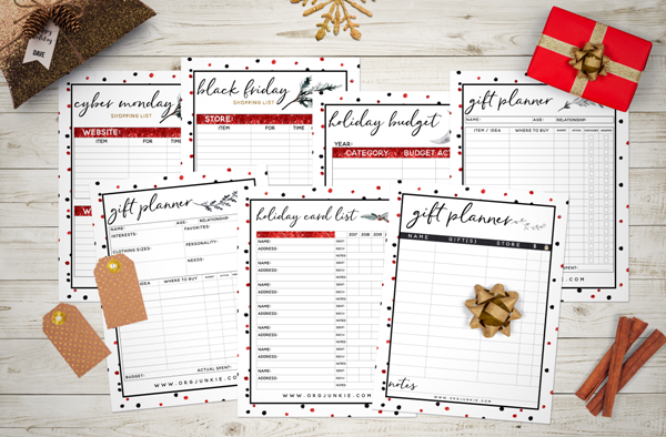 photograph regarding Free Christmas Planner Printables called 2017 Cost-free Holiday vacation Planner - 27 Printables for an Ready