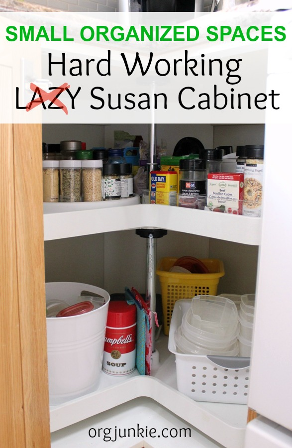 Small Organized Spaces - Hard Working Lazy Susan Cabinet for Spices
