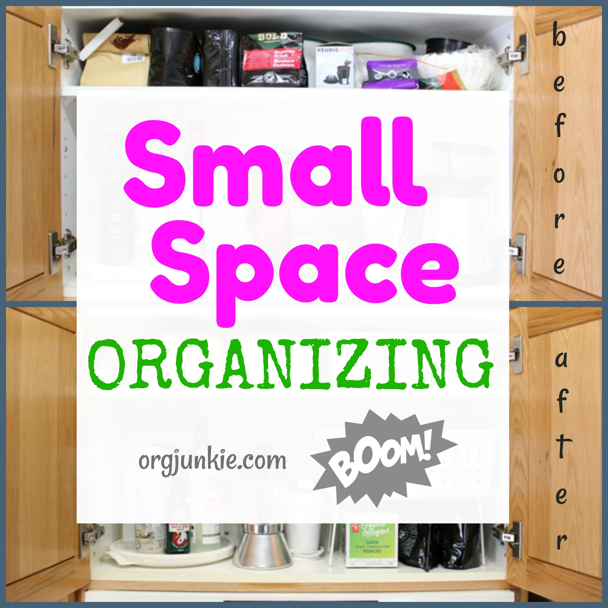 Small Organized Spaces: Coffee Cabinet - getting organized one space ...