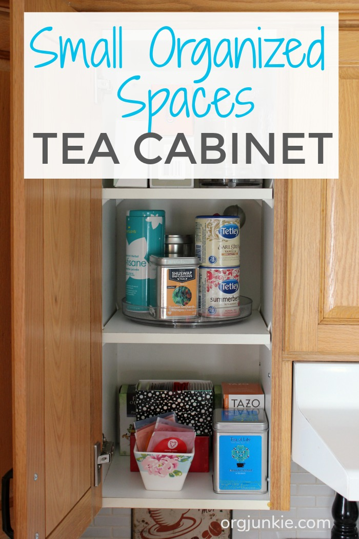 Recently I Organized My Husbandu0027s Coffee Cabinet And A Couple Of Weeks Ago  I Decided It Was Time To Tackle My Tea Cabinet.
