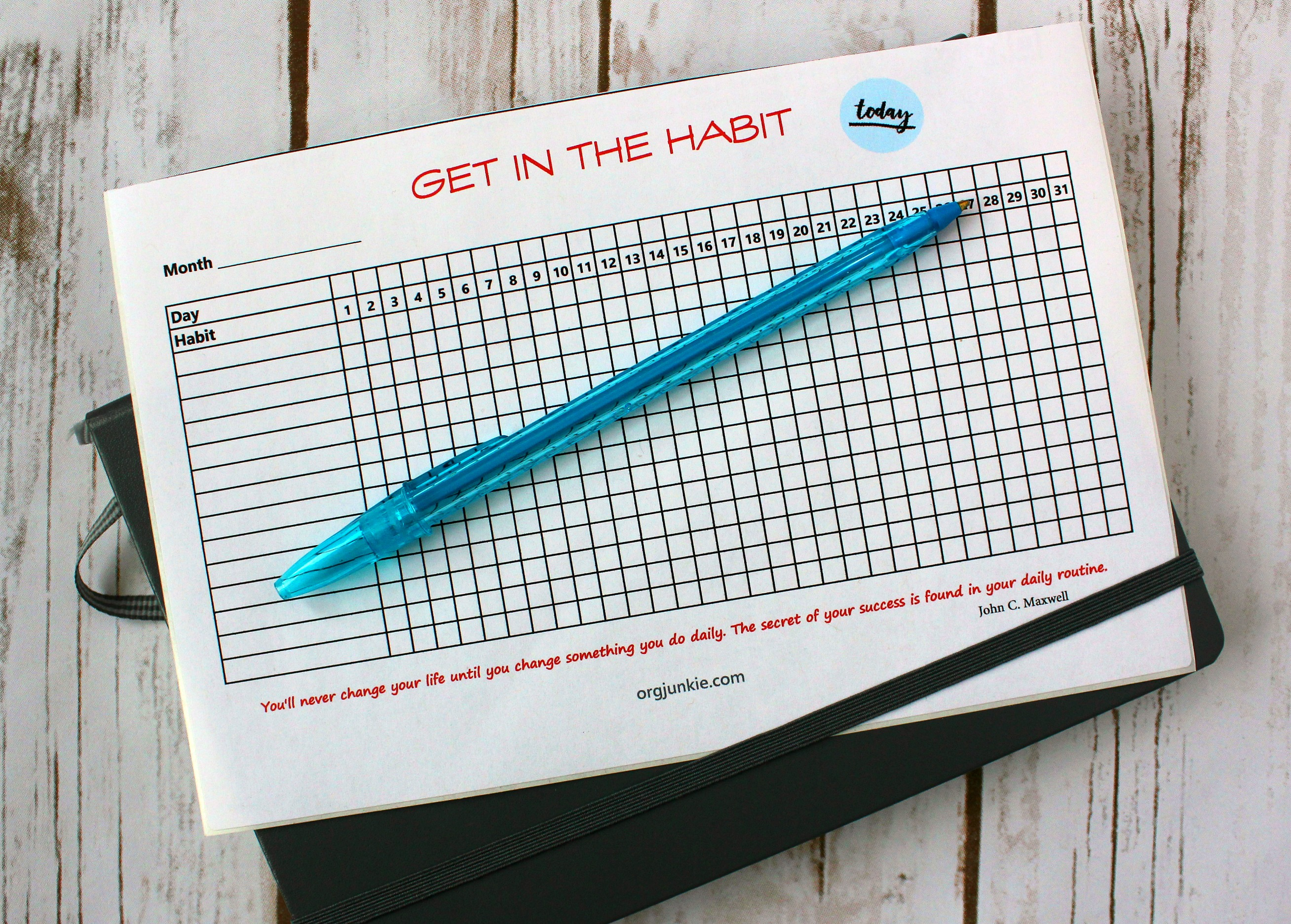graphic regarding Bullet Journal Habit Tracker Printable referred to as 7 Everyday Practices for an Geared up Dwelling with Free of charge Printable