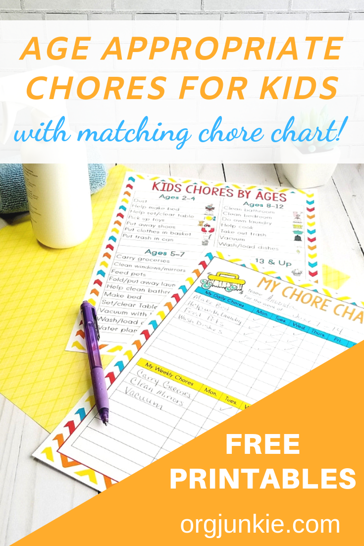image regarding Chores Printable identified as Age Applicable Chores for Children with No cost Printable Chore Chart