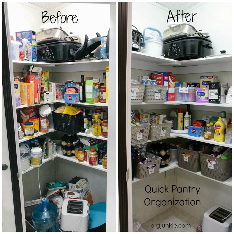 An Organized Kitchen Pantry Makeover with Free Printable ...
